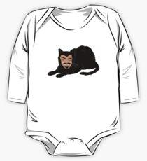 Body de manga larga para bebé Vlad el gato (gris)