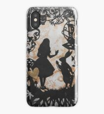 Alice Paper Cutout Metallic iPhone Case/Skin