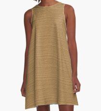 Pale Gold Wood Grain Texture Color Accent A-Line Dress