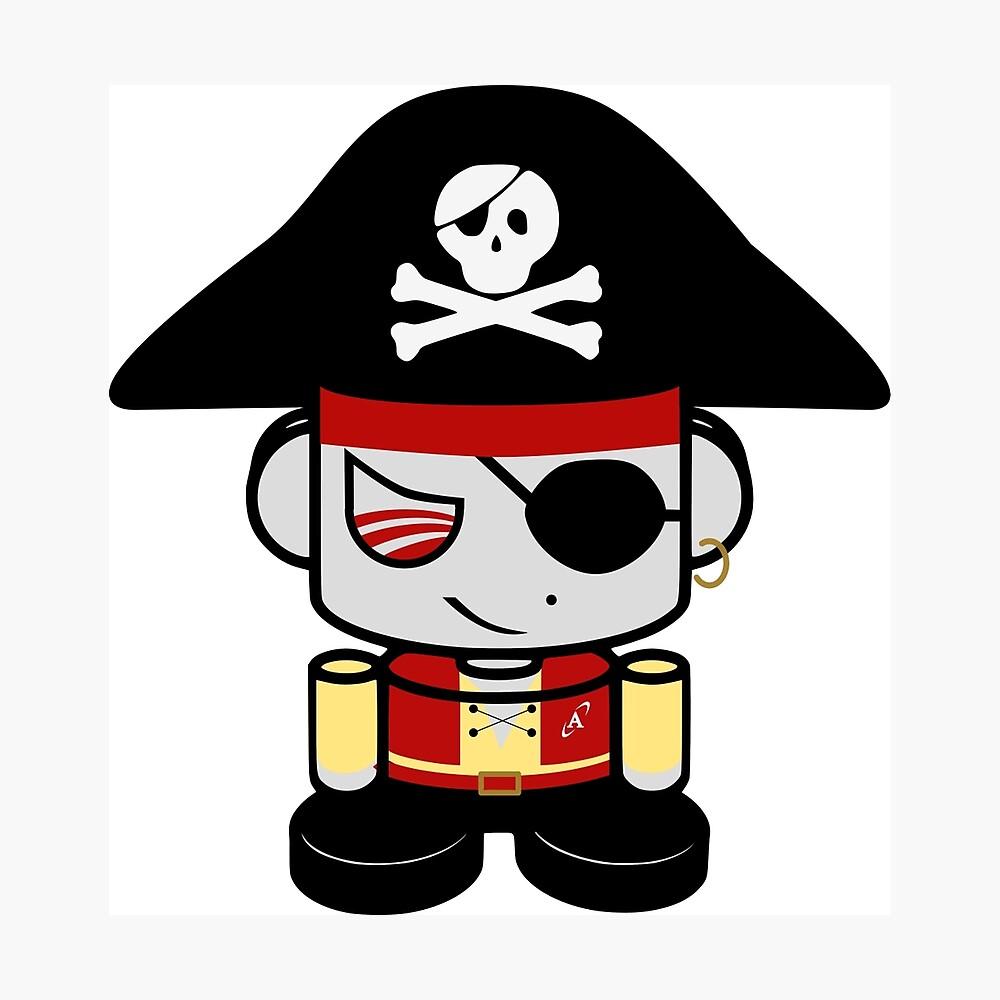 Pirate O'BOT 1.0 Photographic Print