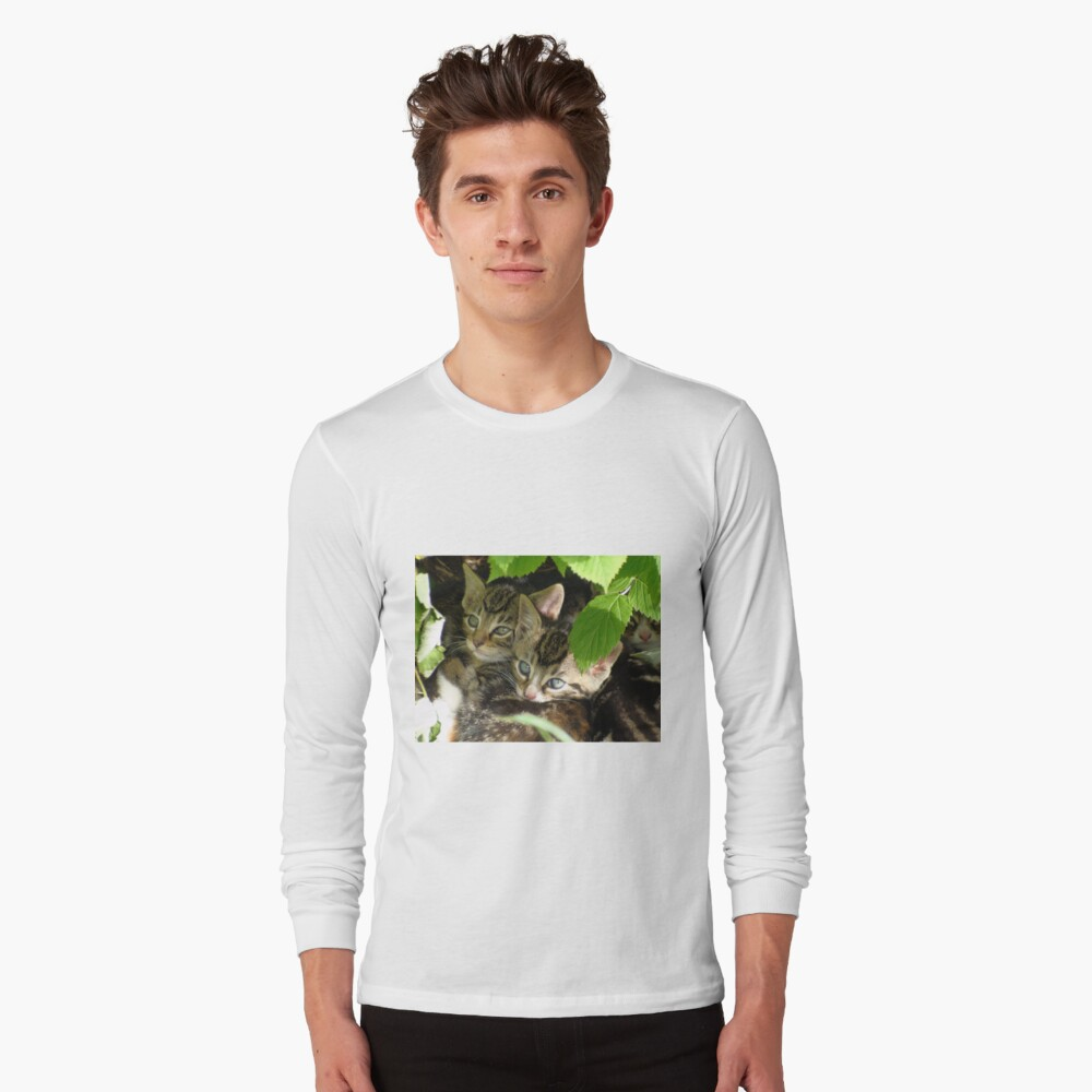 Kittens hiding Long Sleeve T-Shirt Front