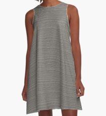 Rock Ridge Wood Grain Texture Color Accent A-Line Dress