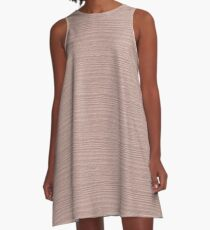 Rose Smoke Wood Grain Texture Color Accent A-Line Dress