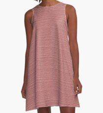 Rosette Wood Grain Texture Color Accent A-Line Dress
