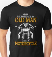 oldman with motor cycle T-Shirt