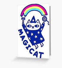 magic cat Greeting Card