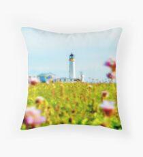 South Lighthouse Fair Isle Shetland Islands. Scotland UK Throw Pillow