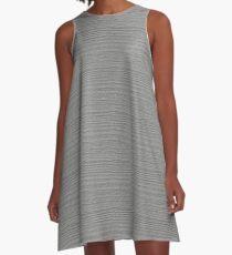 Silver Wood Grain Texture Color Accent A-Line Dress
