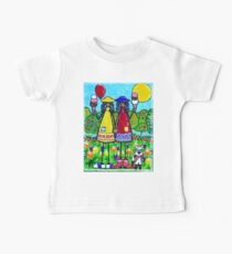 Friends Red Boots Cowboy Girls Ice Cream Cones Summer Fun Happy Trees Flowers Sunshine Sunny Day Kids Dog Baby Tee