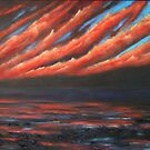 Fiery Sky, Strangford Lough by Les Sharpe