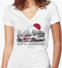 RX7. JDM Legend Women's Fitted V-Neck T-Shirt