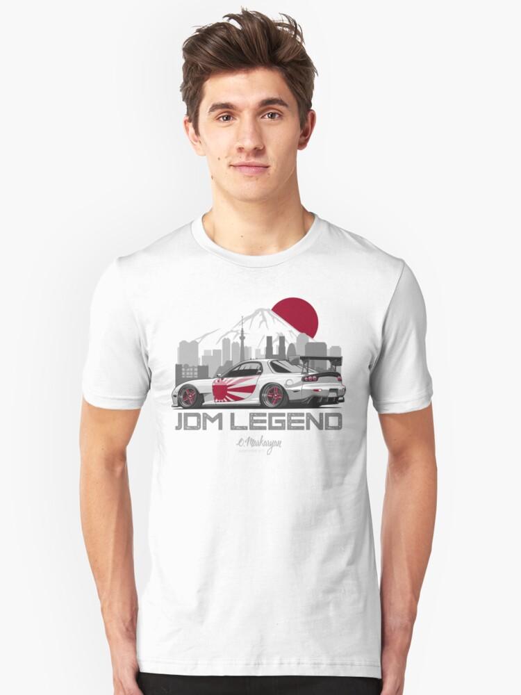 RX7. JDM Legend Unisex T-Shirt Front