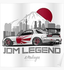 RX7. JDM Legend Poster