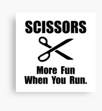 Scissors Fun Run Canvas Print