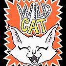 Wild Cat - orange version by blacklilypie