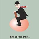 Egg-spress travel by Smallbrainfield