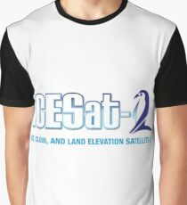 ICESat-2 Logo Optimized for Light Colors Graphic T-Shirt