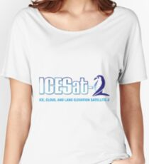 ICESat-2 Logo Optimized for Light Colors Women's Relaxed Fit T-Shirt