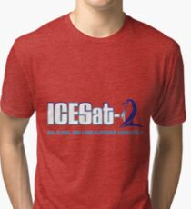 ICESat-2 Logo Optimized for Light Colors Tri-blend T-Shirt