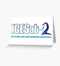 ICESat-2 Logo Optimized for Light Colors Greeting Card