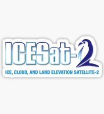 ICESat-2 Logo Optimized for Light Colors Sticker