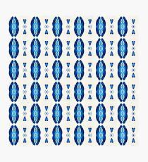 Acrylic Blue Stripes Photographic Print