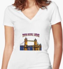 Tower Bridge, London Women's Fitted V-Neck T-Shirt