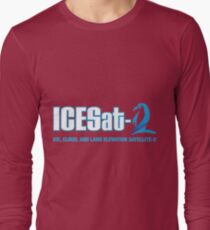 ICESat-2 Logo Optimized for Dark Colors Long Sleeve T-Shirt