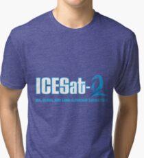 ICESat-2 Logo Optimized for Dark Colors Tri-blend T-Shirt