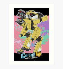 Gortys x Lader Bot (Smashcard) - Pink Kunstdruck