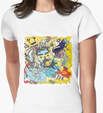flying underwater Women's Fitted T-Shirt