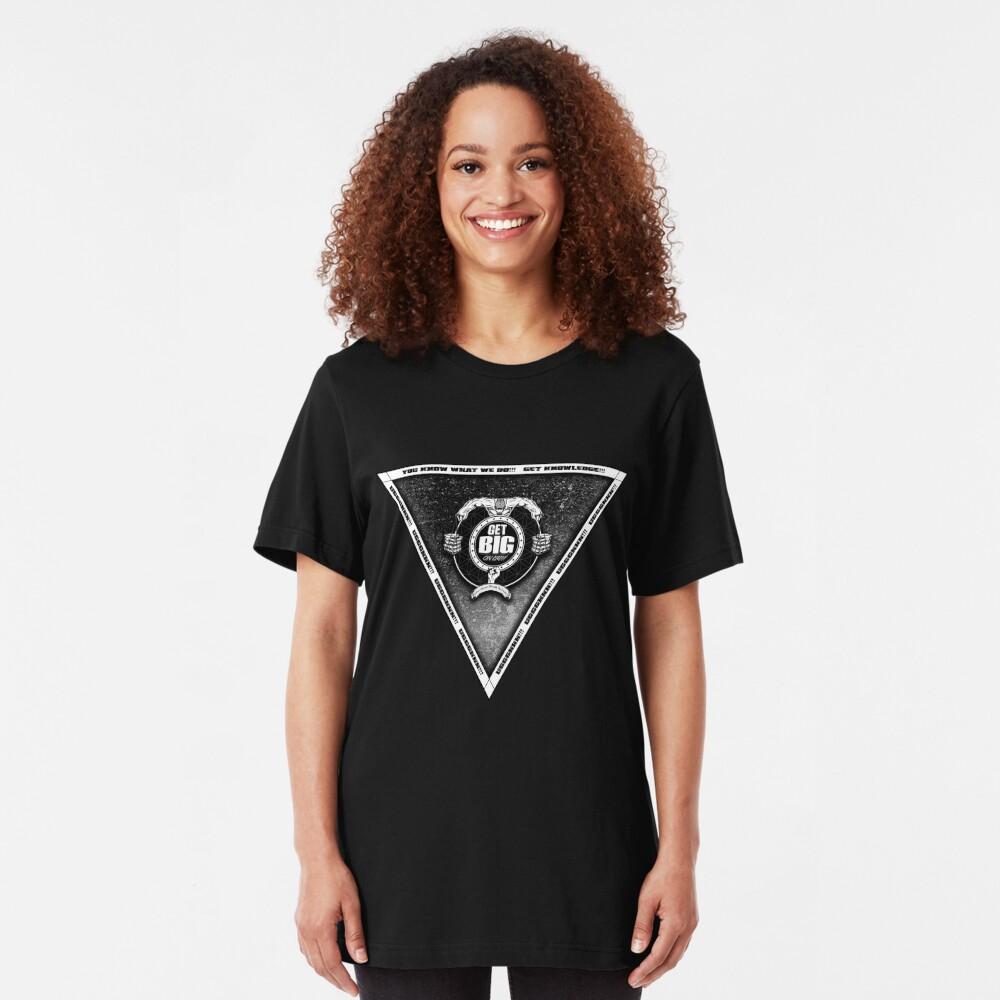Get Big Pyramid Flip - BLACK Slim Fit T-Shirt