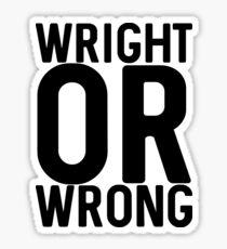 Wright Sticker