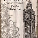 Vintage Travel Poster London by Debbie DeWitt