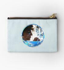 Crystals - Blue Zipper Pouch