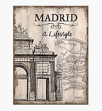 Vintage Travel Poster Madrid Photographic Print