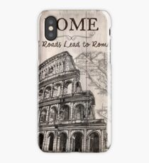 Vintage Travel Poster Rome iPhone Case/Skin