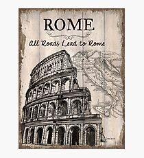 Vintage Travel Poster Rome Photographic Print