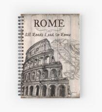 Weinlese-Reise-Plakat Rom Spiralblock