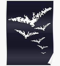 Chalk Bats Poster