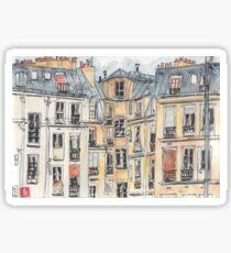 Paris terrace view Sticker