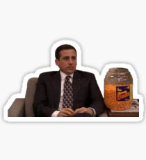 Michael Scott Cheesy Poofs Sticker