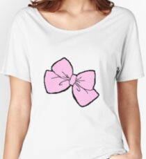 Pink Bow Women's Relaxed Fit T-Shirt