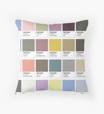 Color Swatches Throw Pillow