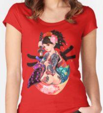 Yakuza-Mädchen Tailliertes Rundhals-Shirt