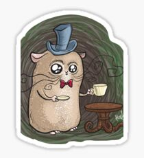 Sir Hamster with tea Sticker