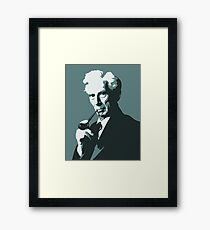 Thinkers - Bertrand Russell (blue) Framed Print