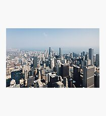 High Above Chicago (Color) Photographic Print