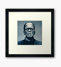 Boris Karloff as Frankenstein  Framed Print