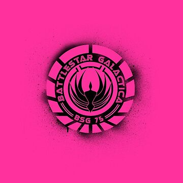 Battlestar Galactica Grunge - Hot Pink Line by lovecrafted